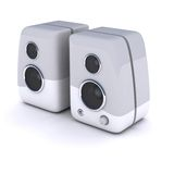 White speakers. 2 speakers isolated over white (Music, Stereo, Mp3, Computer audio, etc Stock Photography