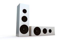 White speakers Stock Photo