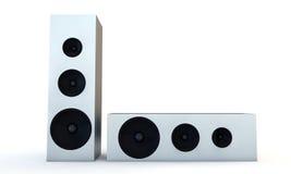 White speakers Stock Image