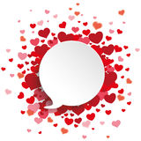 White Speech Bubble Red Hearts Royalty Free Stock Photography