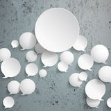 White Speech Bubbles With Big Circle Concrete Stock Image