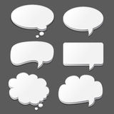 White speech bubbles set  on black Royalty Free Stock Photo