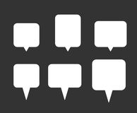 White Speech Bubbles Set Royalty Free Stock Photography