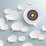 White Speech Bubbles Target Royalty Free Stock Photos