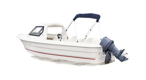 White speed boat isolated background Royalty Free Stock Photo