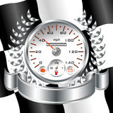 White Speedometer racing shield Royalty Free Stock Photos