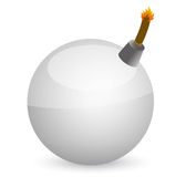 White sphere Bomb Royalty Free Stock Images