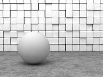White sphere Royalty Free Stock Photography