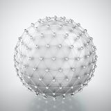 White sphere in metal cage Royalty Free Stock Image
