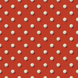 White sphere pattern background 3d rendering Royalty Free Stock Images