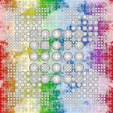 White spheres on rainbow background seamless texture Royalty Free Stock Photo