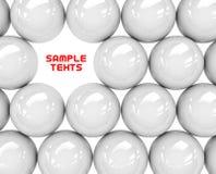 White spheres Royalty Free Stock Photos