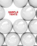 White spheres Royalty Free Stock Photo
