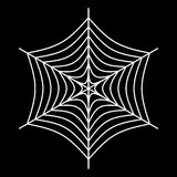 White spider web - Cobweb vector  on black background - illustration. Image of  white spider web - Cobweb vector  on black background - illustration Stock Photography