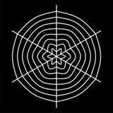 white spider web - Cobweb vector  on black background - illustration Stock Photography