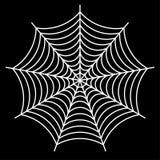 white spider web - Cobweb vector  on black background - illustration Stock Photo