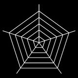 white spider web - Cobweb vector  on black background - illustration Royalty Free Stock Photography