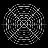 white spider web - Cobweb vector  on black background - illustration Royalty Free Stock Images