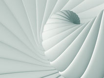White spiral abstract smooth design background Royalty Free Stock Photo
