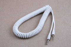 White spiral cable Stock Photos