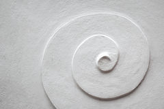 White Spiral cement pattern Stock Image