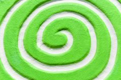 White spiral green.Top view and Close up. 1 Stock Photos