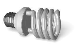 White spiral light bulb lying Stock Images