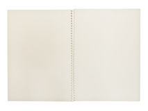 White spiral notebook Stock Image
