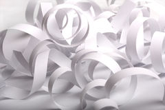White spiral paper abstract. Stock Image