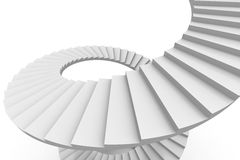 White spiral stair. Royalty Free Stock Photos