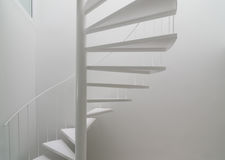 White spiral stair Royalty Free Stock Photos