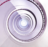 White spiral staircase. Stock Photos