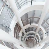 White spiral staircase Stock Photo