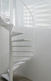 White spiral staircase Stock Images