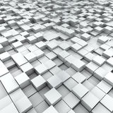 White split-level cubes Royalty Free Stock Images
