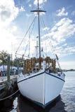 White Sponge Boat Front Stock Image