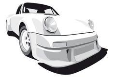 White sport car. Image of Porsche 911 (1973 year Stock Photos