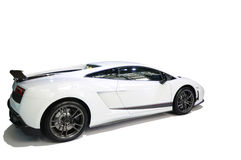 White sport car Royalty Free Stock Image