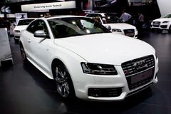 White sport car Audi Stock Photography