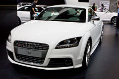 White sport car Audi Stock Photos