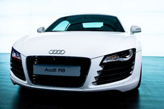 White sport car Audi R8 Stock Photo