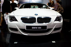 White sport car BMW M6 Stock Images