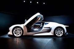 White sport car Citroen Stock Image