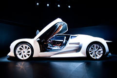 White sport car Citroen Stock Photo