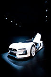 White sport car Citroen Stock Photography