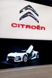 White sport car Citroen at Moscow International ex Stock Photo