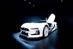 White sport car Citroen at Moscow International ex Stock Photos