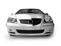 White sport car front view Stock Photo
