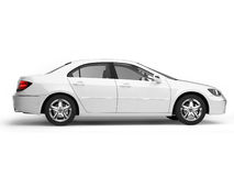 White Sport Car Side View Stock Image