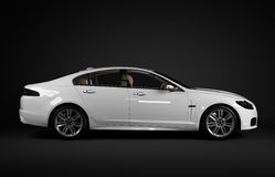 White Sport limousines Royalty Free Stock Photography
